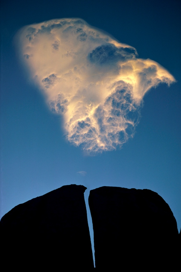 Split rock and cloud, Eastern Sierra, California