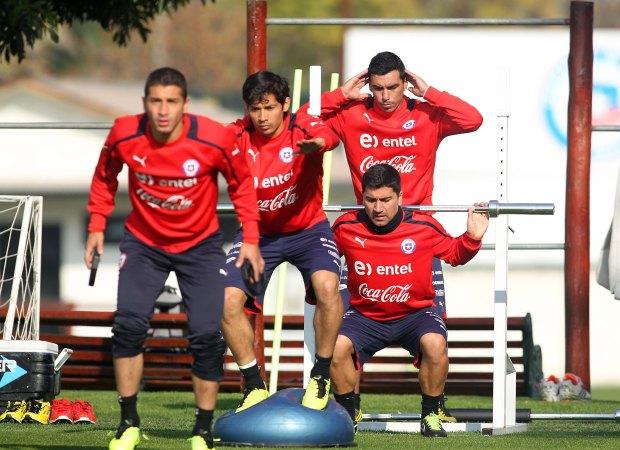 Entrenamiento selección Chilena.
